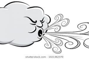 wind clipart black and white 2