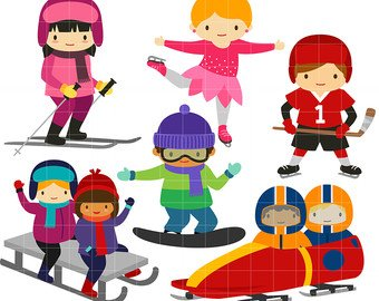 Image result for winter sports clipart