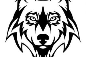 wolf clipart face 1
