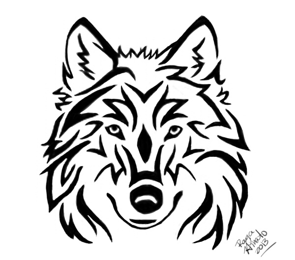 844ea938 Tribal Wolf Head Tattoo By Rayahinato On Deviantart intended for ...