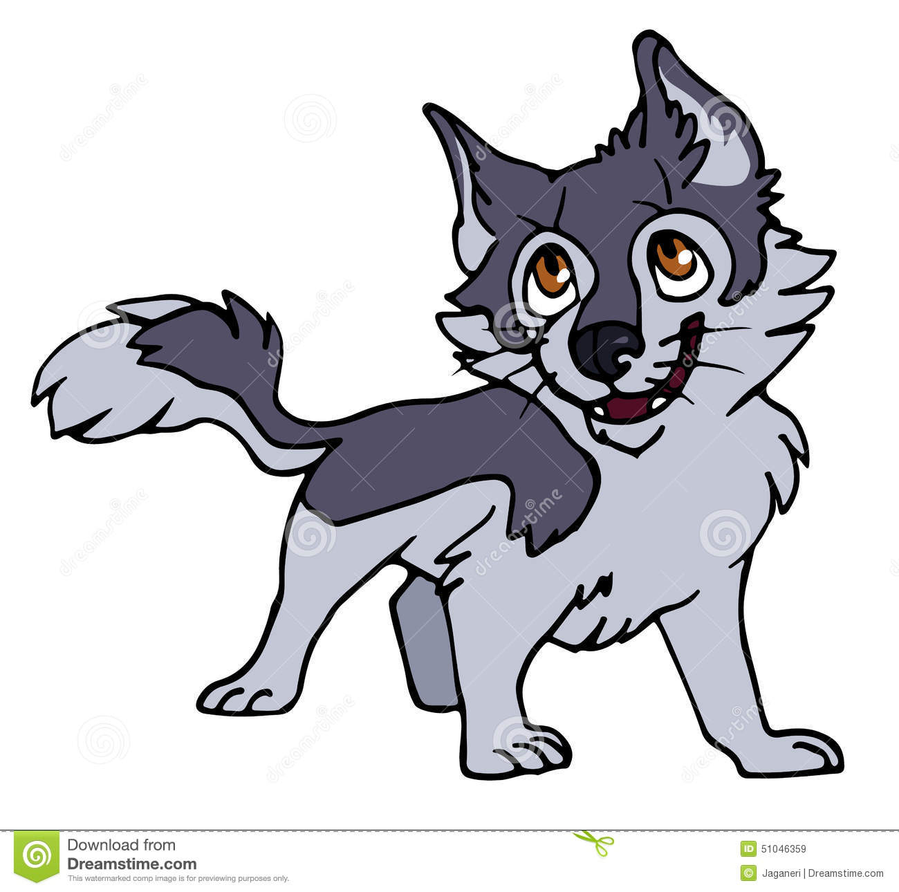 Wolf pup. Clipart station