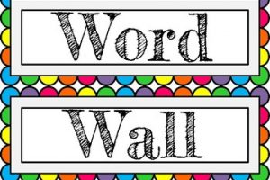 word wall clipart 1