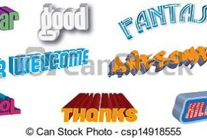 words clipart 3