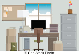 work desk clipart