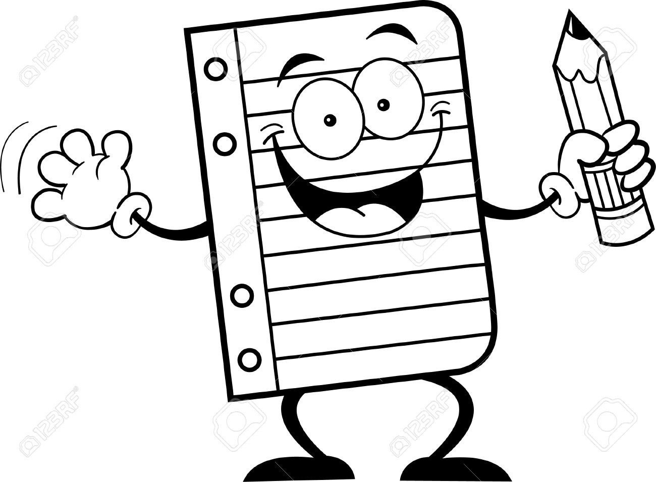 Writing black and white. Pencil clipart writings essays