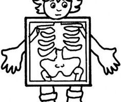 xray clipart black and white