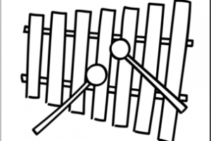 xylophone clipart black and white 1
