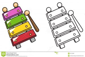 xylophone clipart black and white 2