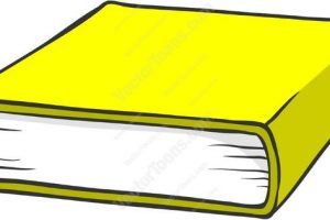 Yellow book. Clipart station