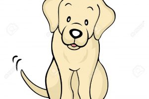 yellow lab clipart