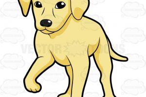 yellow lab clipart 9
