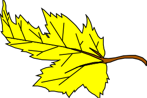 yellow leaf clipart 3