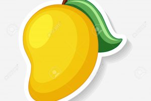 Sticker template for yellow mango