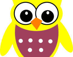 yellow owl clipart 1