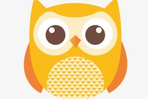 yellow owl clipart 2