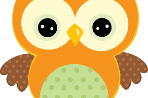 yellow owl clipart 3