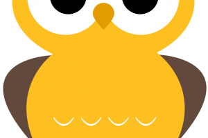 yellow owl clipart 4