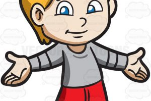 young boy clipart 5