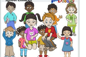 young children clipart 2