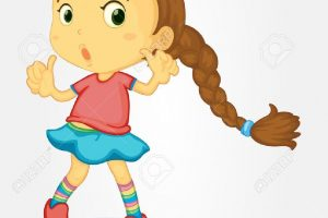young girl clipart 1