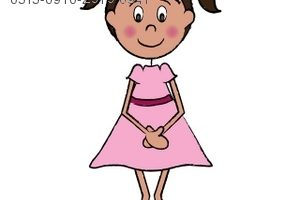 young girl clipart 2