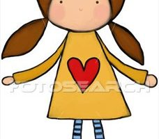 young girl clipart
