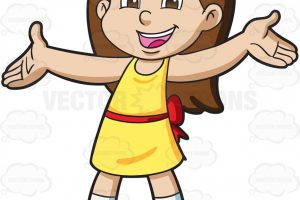 young girl clipart 3