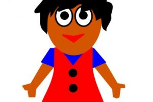 young girl clipart 5