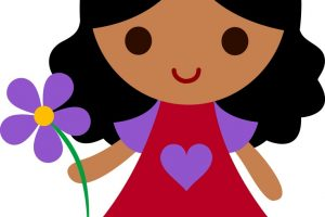 young girl clipart 6