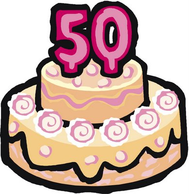 Phenomenal Pin Free Happy 50Th Birthday Clip Art Cake Clipart 50Th Birthday Funny Birthday Cards Online Fluifree Goldxyz