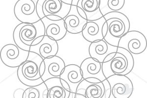 arched swirl designs clipart