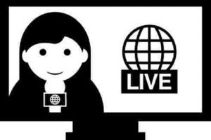 modern tv clipart black and white 3