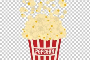 popcorn in a bag clipart 1