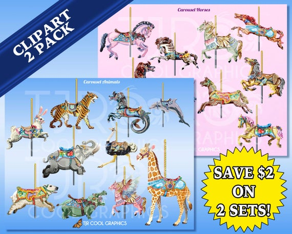 Printable carousel horse clipart 4 » Clipart Station