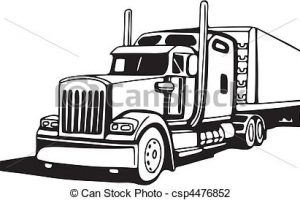 18 wheeler clipart cute 4