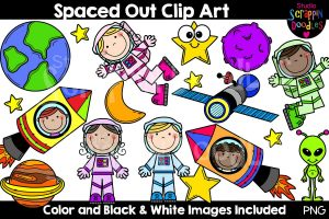 astronaut on cable clipart 5