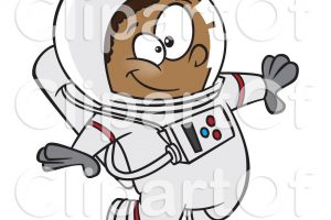 astronaut on cable clipart 6