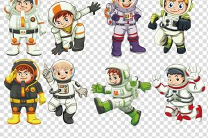 astronaut on cable clipart 7