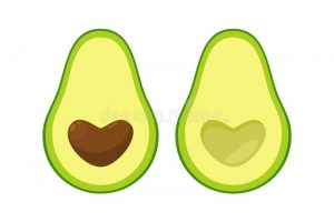 avocado shape clipart 1