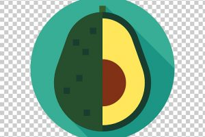 avocado shape clipart 3
