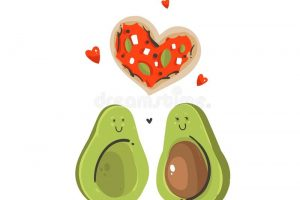 avocado shape clipart 5