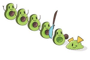 avocado shape clipart 6