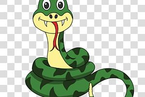 clipart reptile with forked tongue 1