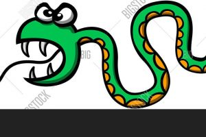clipart reptile with forked tongue 3