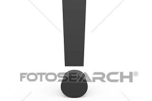exclamation mark bw clipart 2