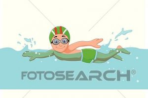 funny clipart swimming 4