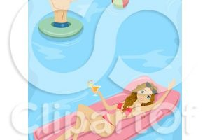 funny clipart swimming 7