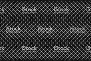Metallic wire chain link on transparent background