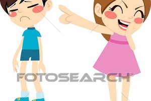 grils laughing at girl clipart 1