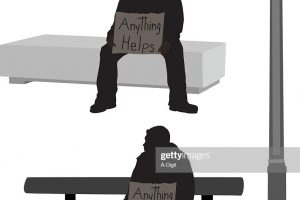 homeless beggar clipart black and white 1